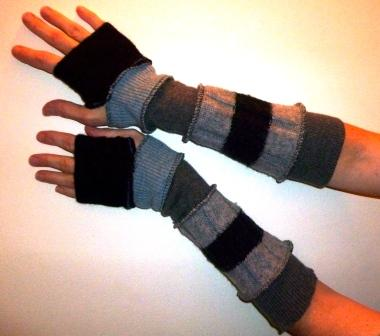 Arm Warmers from Refab Reconstructed Clothing