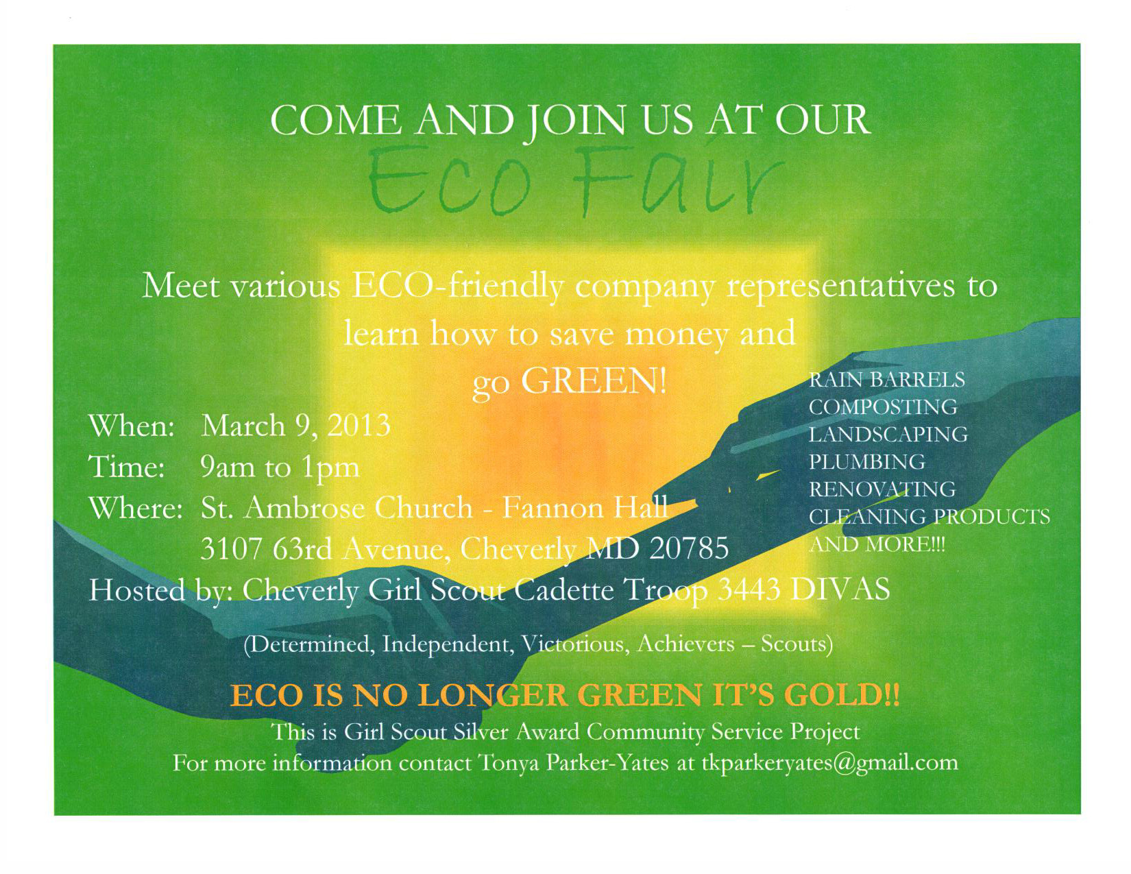 Girl Scout Eco Fair flyer