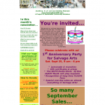 Sept 2010 Newsletter