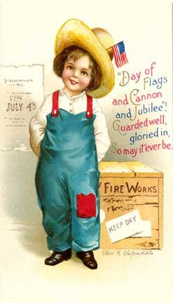vintage fourth of july greeting