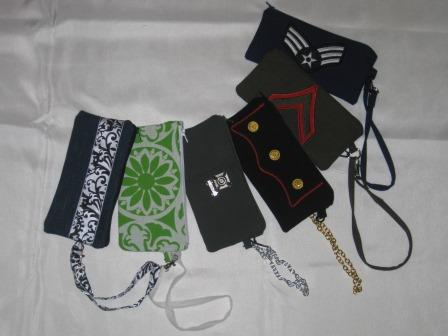 Clutches with handy little wrist straps!