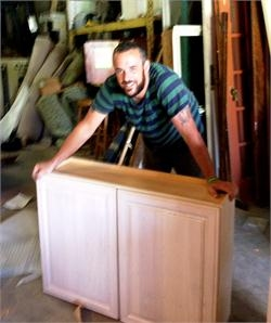 Josh with cabinet