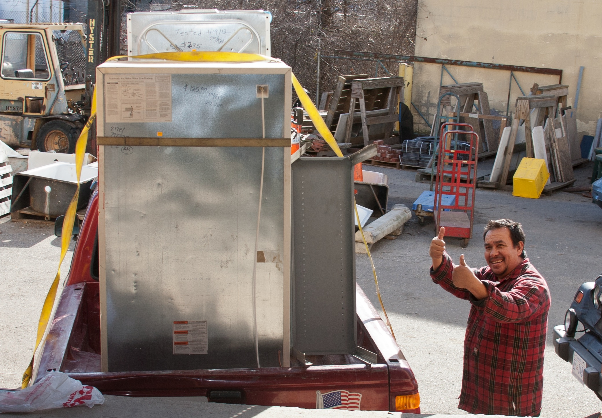 This Forklift Fan was excited to find some great deals! (Photo by Edward Jackson)