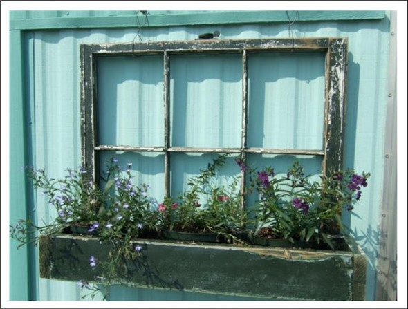 Ruff By Margo has an excellent roundup of upcycling ideas for old windows