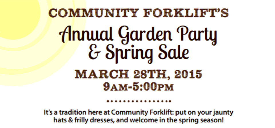 Save the Date for our Spring Garden Party!