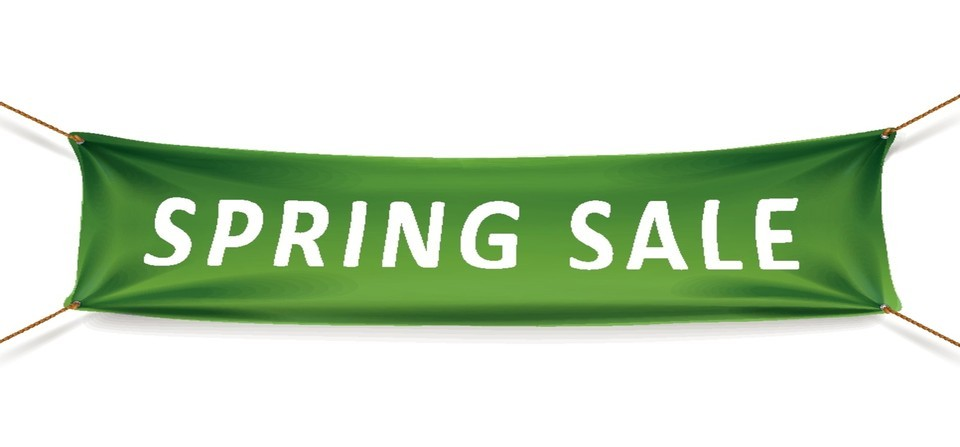 spring sale banner sized