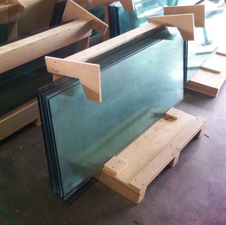 2015 - 04 - 17 Glass shelves donated by Clark Construction
