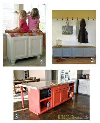 Roundup of kitchen cabinet repurposing