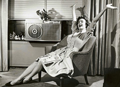 lady in front of air conditioner