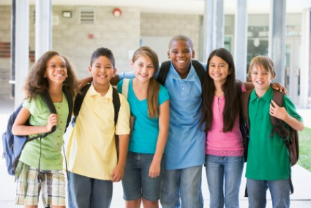 kids-at-school clean clothes