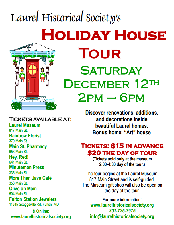 2015 - 12 - 12 Laurel Holiday Home Tour flyer