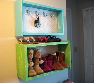 Drawers as wall storage, featured on Douangphila Blog