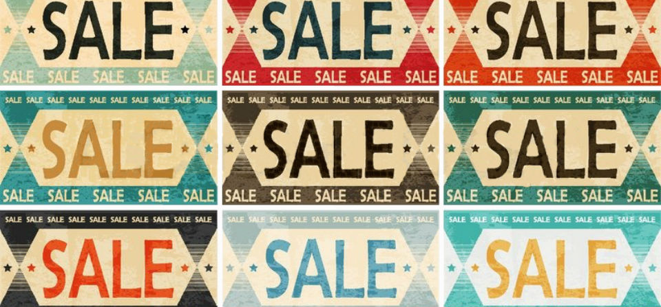 vintage sale - billboard