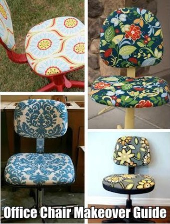 Get a set of chairs and redo them with a variety of complementary fabric