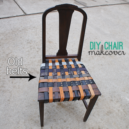 old belts chair