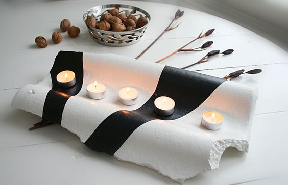 Roof tile candle holder