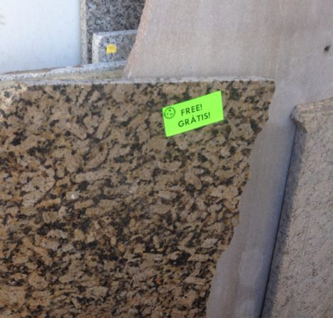 Free Friday granite scraps