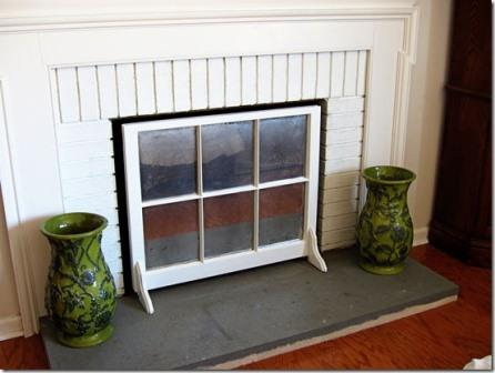 Maybe you don't need a window... but check out this cool mirrored fireplace screen! Visit InMyOwnStyle.com for detailed instructions.