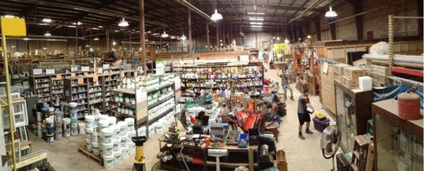 warehouse panorama danny pointing
