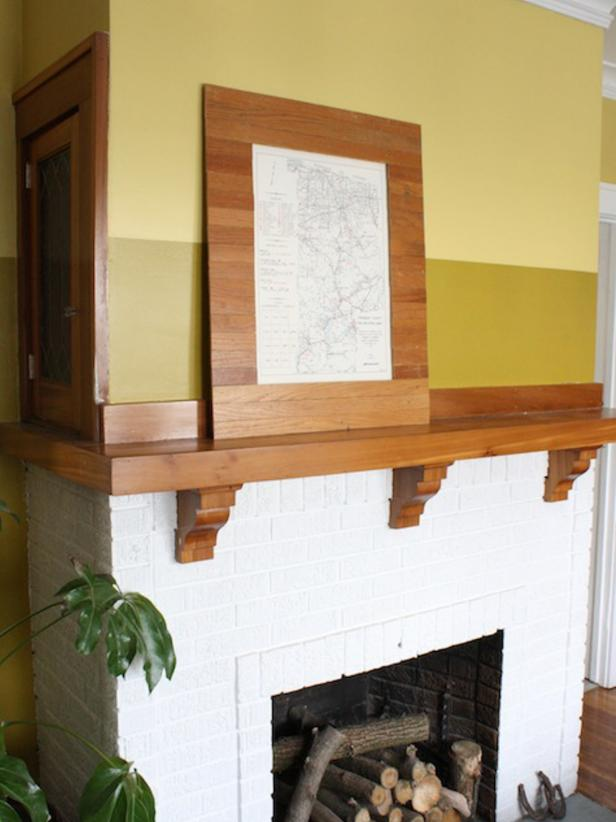 DIY Network has a tutorial on how to build an oak frame like this.