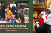 Till 4pm:  storewide sale, cupcakes, gift-making workshops, & photos with Santa!