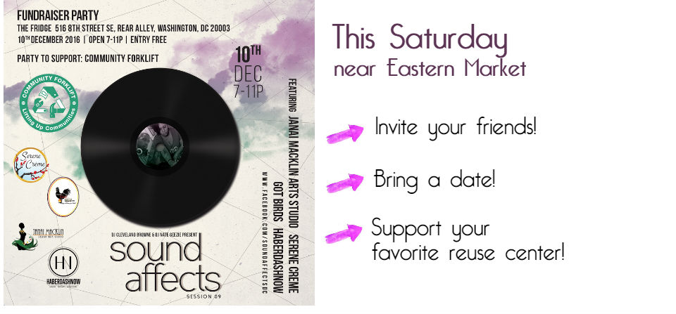 This Sat, let's party at Eastern Market (and raise a little money for the 'Lift!)