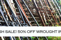 Midweek Flash Sale – Half off wrought iron