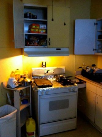Kitchen Renovation | Community Forklift on pellet stoves in corners, cabinets in corners, wood burning stoves in corners,