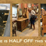 Half off vintage and modern furniture this weekend!