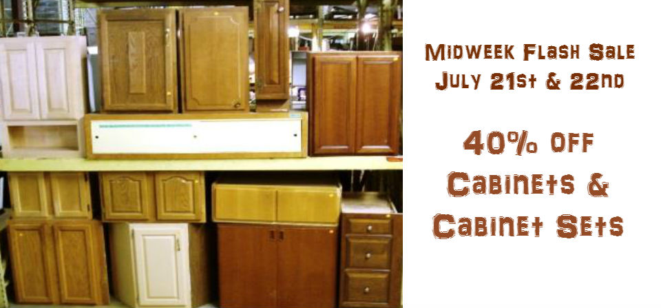 Midweek Flash Sale:  Cabinets!