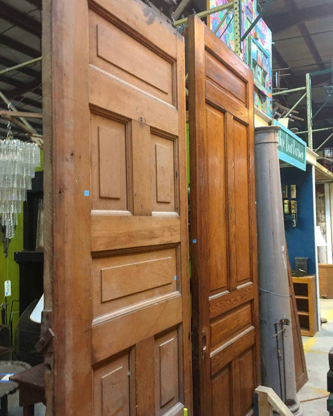 Thatu0027s right u2013 take HALF OFF the blue or orange price tag on any door on the warehouse floor. The sale includes all kinds of interior and exterior doors ... & Weekend Flash Sale u2013 Doors u0026 Mantels | Community Forklift