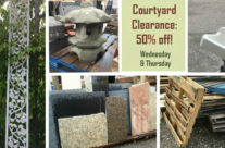 Midweek Flash Sale:  Courtyard Clearance!