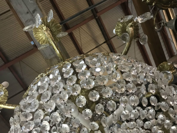 Photo: detail of a crystal chandelier