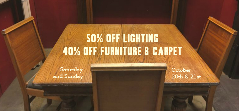 This weekend, save on furniture, carpet, lighting, and tile