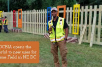 Local Association Turns Free Forklift Doors into Fence Design