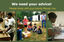 We need your advice!  Please ask your handy friends, too.