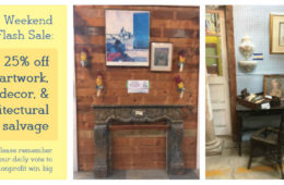 Save on decor, wall art, and architectural salvage this weekend!