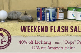 Weekend Flash Sale: Paint and Lighting