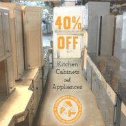Midweek Flash Sale:  40% off Appliances & Cabinets