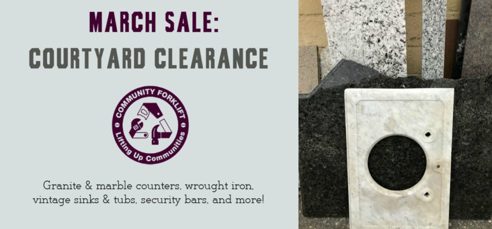 March Sale:  Courtyard Clearance