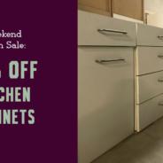 Weekend Cabinet Sale