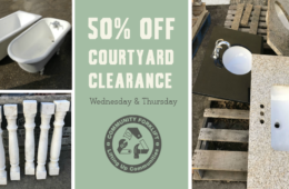 50% off granite, marble, ironwork & more during Courtyard Clearance