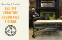 Weekend Sale:  Furniture & Decor