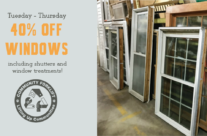 Save big on windows, shutters, & more