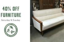 Weekend Sale:  Modern & Vintage Furniture
