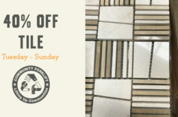 This week, tile is 40% off