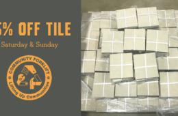 Weekend Tile Sale