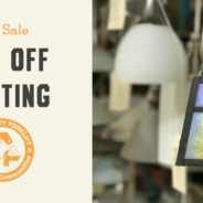 July Sale:  40% off Lighting