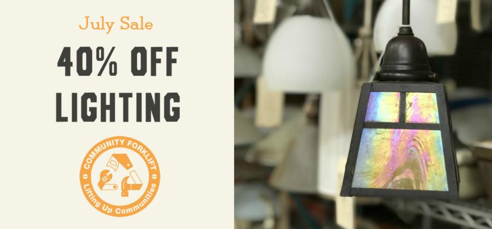 July Sale:  40% off Lighting