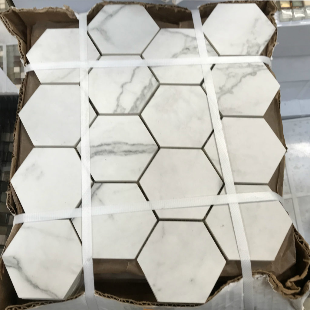 Photo of honeycomb marble tile
